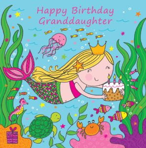 LIL9 - Granddaughter Birthday Card Mermaid